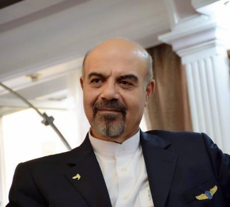 Iranian pilot Houshang Shahbazi.
