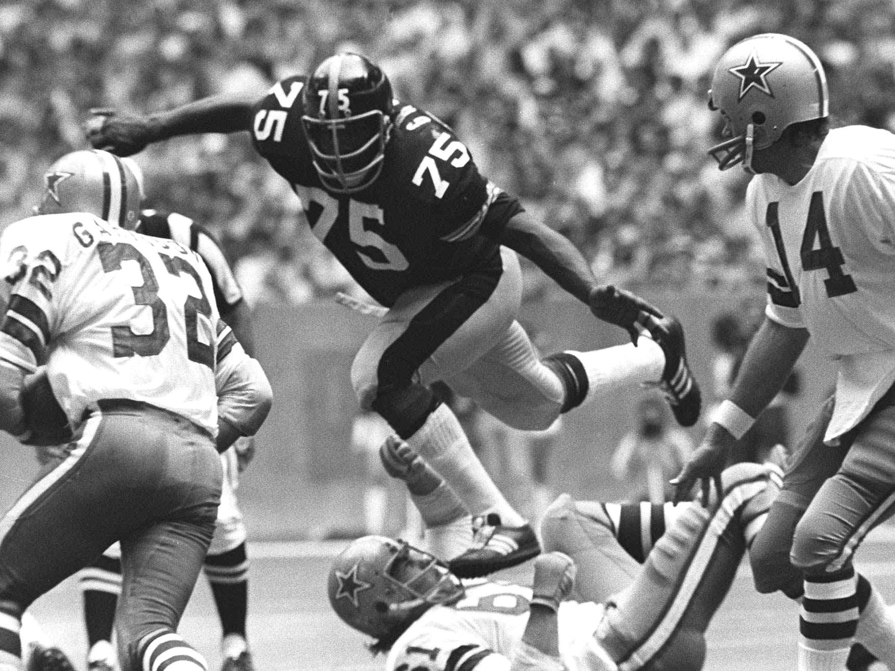 """Mean"" Joe Greene - Intense style of play for Steelers' famed Steel Curtain defense earned him his nickname."