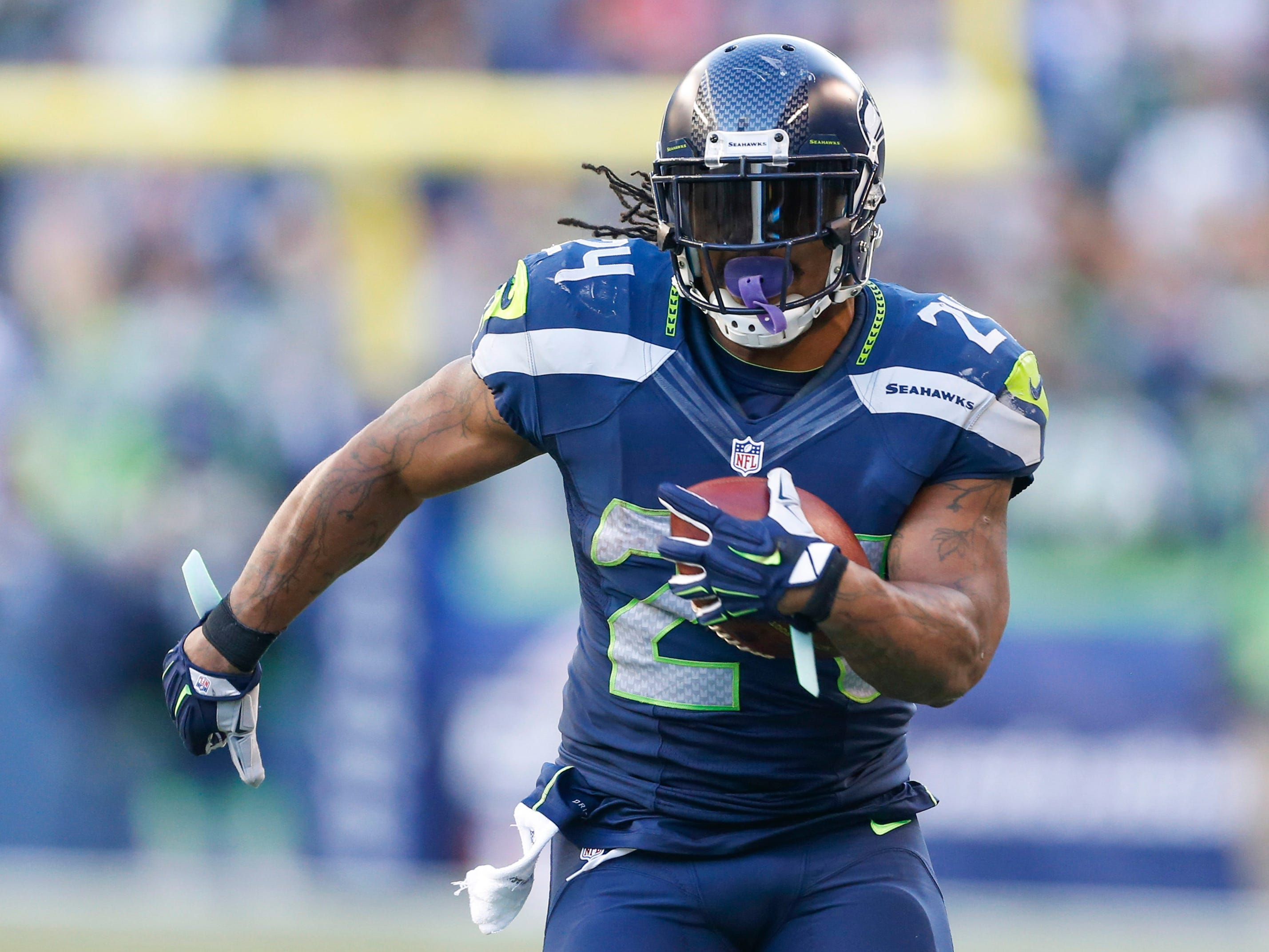 "Marshawn Lynch - ""Beast Mode"" set forth a seismic event in Seattle during the 2010 playoffs."