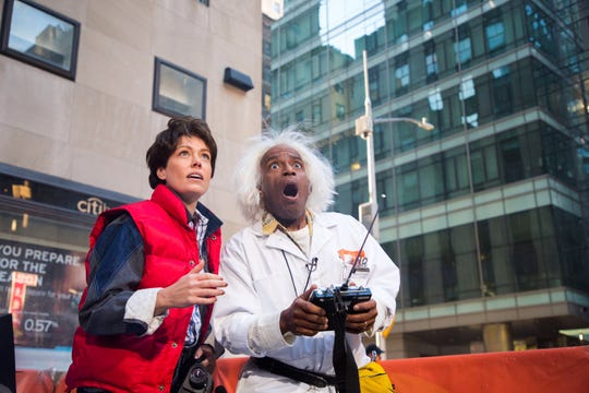 """Al Roker went """"Back to the Future"""" as the Doc Brown to Dylan Dreyer's Marty McFly."""