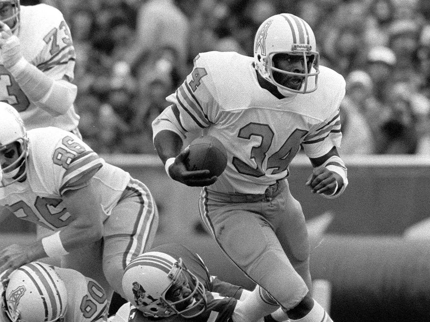 "Earl Campbell - Don't let the ""Tyler Rose"" nickname fool you. His preferred route to the end zone was through opposing defenders."
