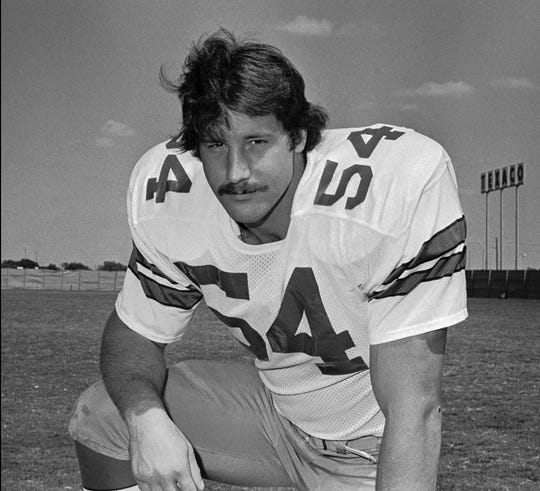 "Randy White - Star of Dallas' Doomsday Defense was nicknamed ""The Manster"" (half man, half monster)."
