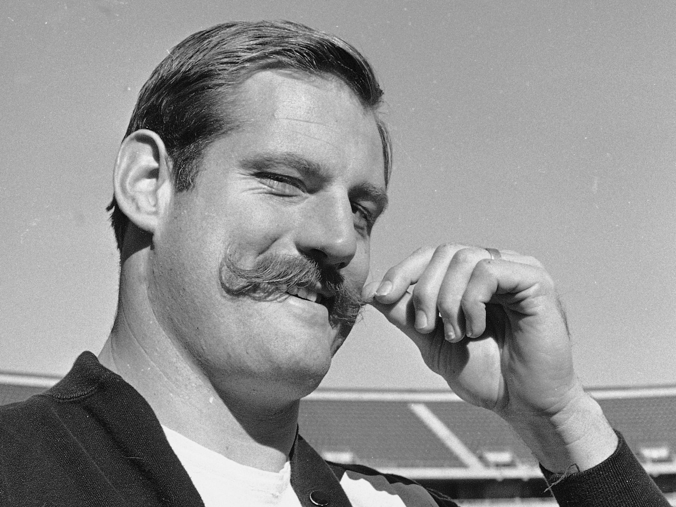 Ben Davidson - Don't let that handsome  handlebar mustachioed man fool you. He set the tone for the renegade Raiders in the 1960s. Famously fought with Chiefs after a late hit to Len Dawson.