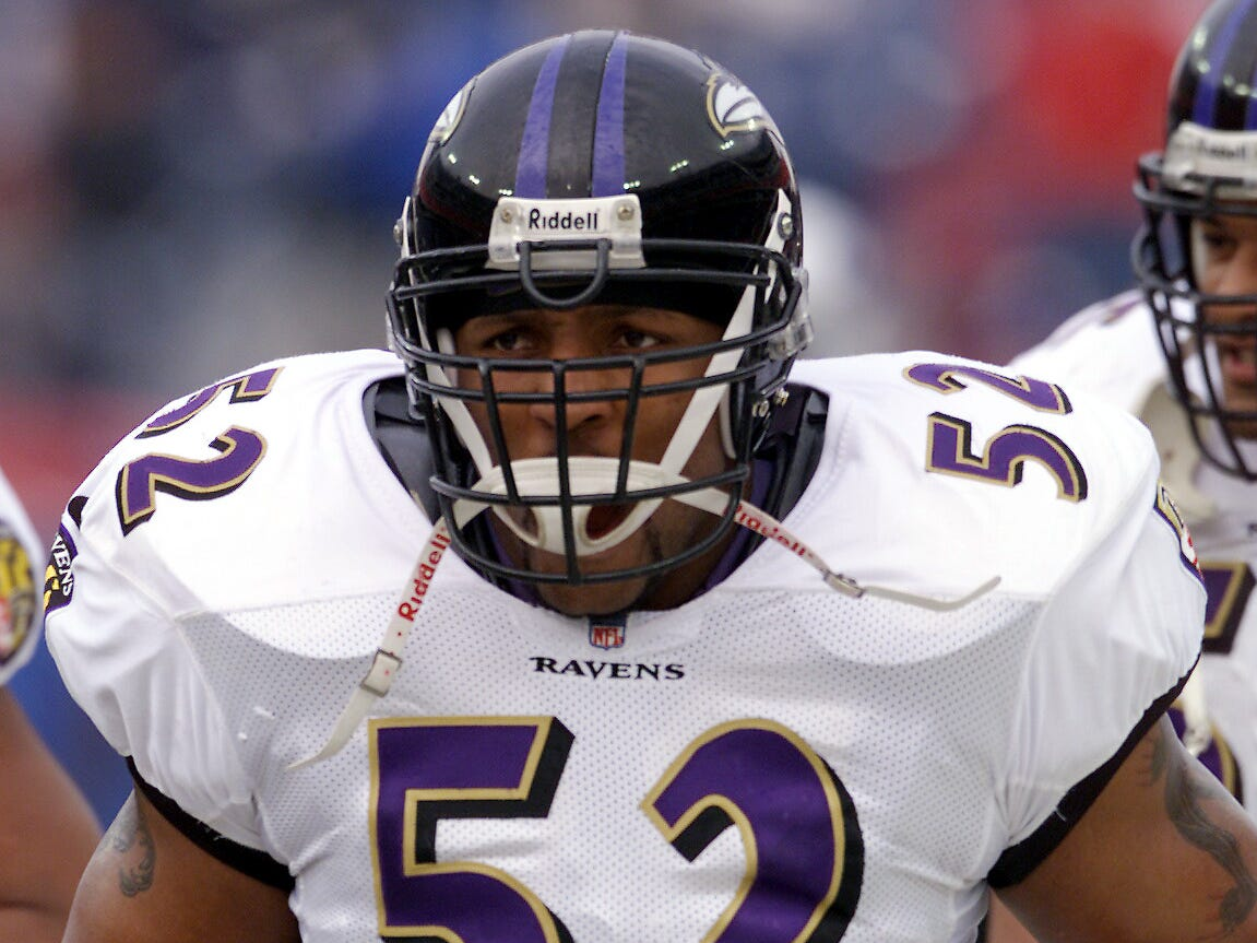 Ray Lewis - One of the most dominant linebackers ever anchored one of the best defenses in league history.
