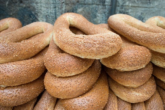 Jerusalem bagels are sold by street vendors all over Israel.