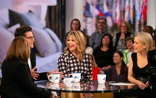 "Megyn Kelly with Melissa Rivers, Jacob Soboroff and Jenna Bush Hager during a Halloween segment on ""Megyn Kelly Today,"" on Oct. 23, 2018, when Kelly defended the use of blackface in Halloween costumes."