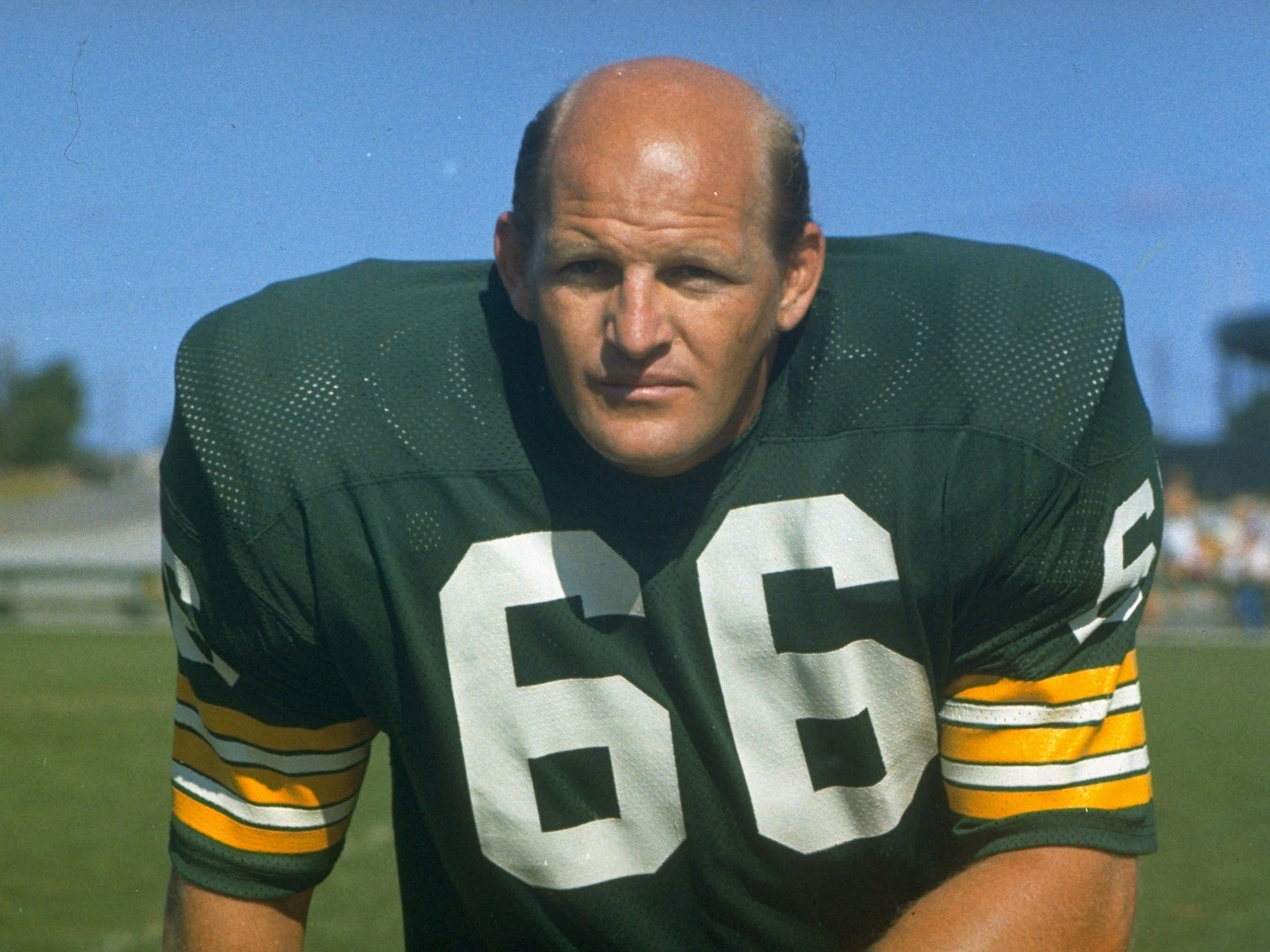 Ray Nitschke - Fierce anchor of defense that won five NFL titles in seven seasons under legendary coach Vince Lombardi.