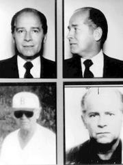 "These 1980s FBI handout file photos show Massachusetts mobster James ""Whitey"" Bulger. Officials with the Federal Bureau of Prisons said Bulger died Oct. 30, 2018, in a West Virginia prison after being sentenced in 2013 in Boston to spend the rest of his life in prison."