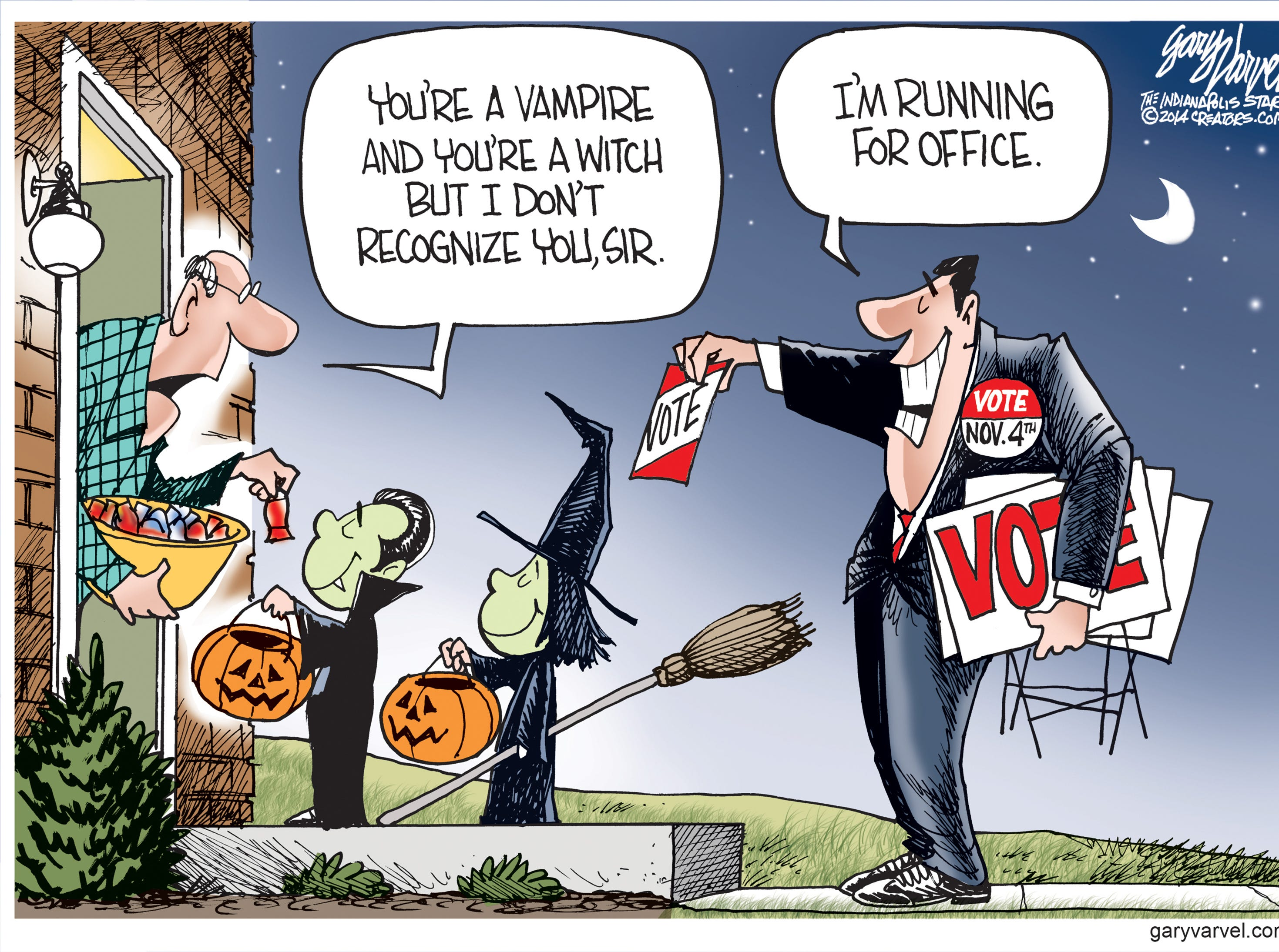 Originally published in 2014. The cartoonist's homepage, indystar.com/opinion/varvel