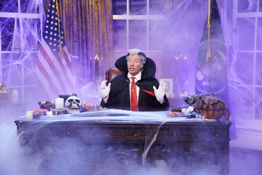 """""""Tonight Show"""" host Jimmy Fallon opened Tuesday's show as Count Trump-ula."""