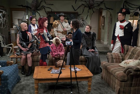 The family is dressed to scare in Tuesday's Halloween-themed episode of ABC's 'The Conners.'