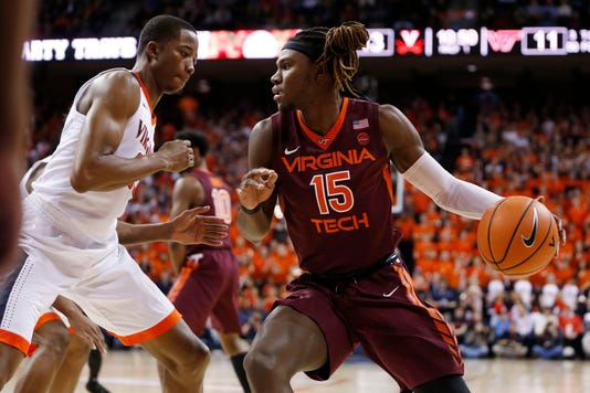 Usp Ncaa Basketball Virginia Tech At Virginia S Bkc Uva Vpi Usa Va