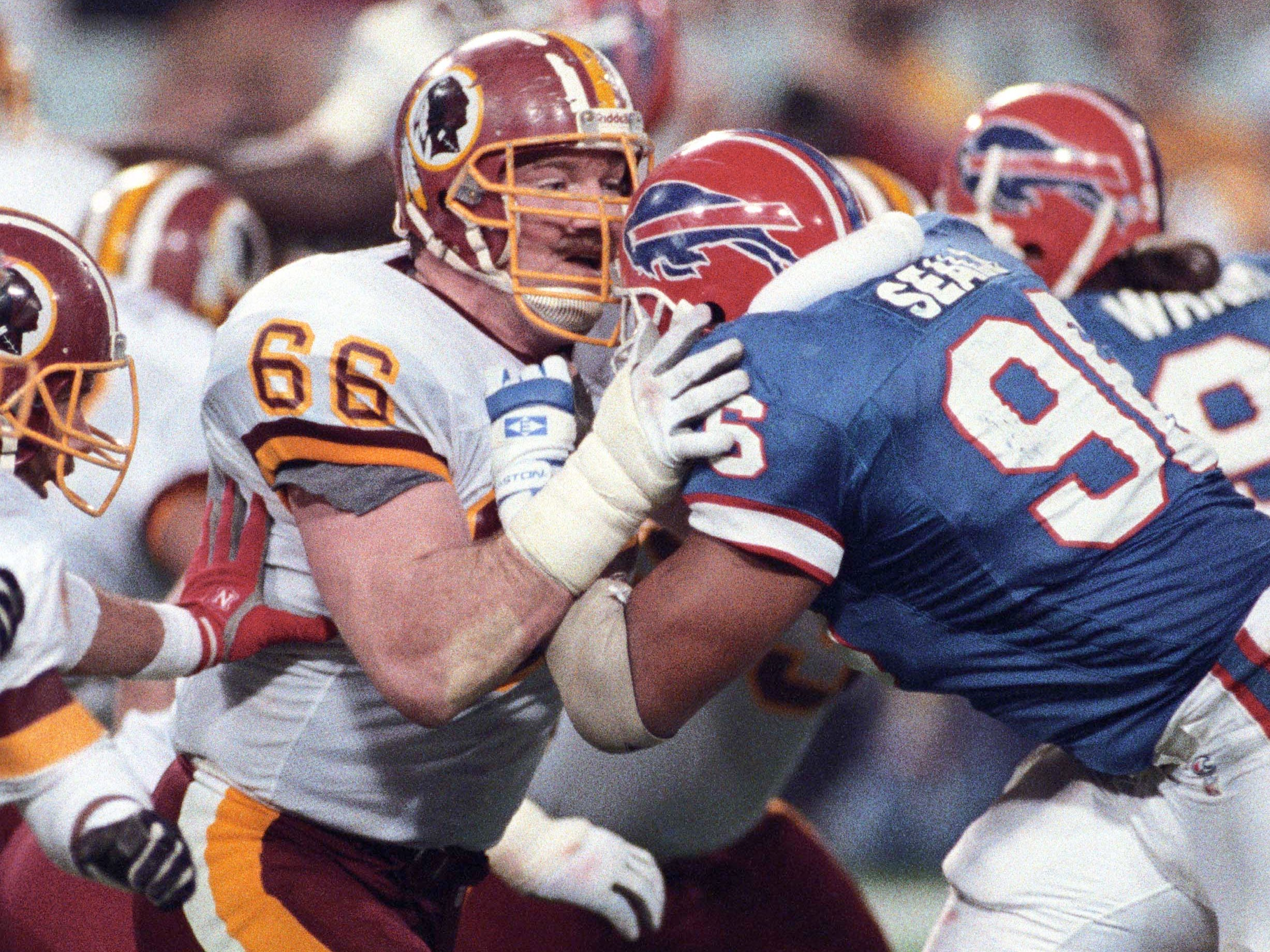 "Joe Jacoby - Massive 6-foot-7 lineman and original ""Hog"" helped pave the way for John Riggins' famous touchdown run in Super Bowl XVII."