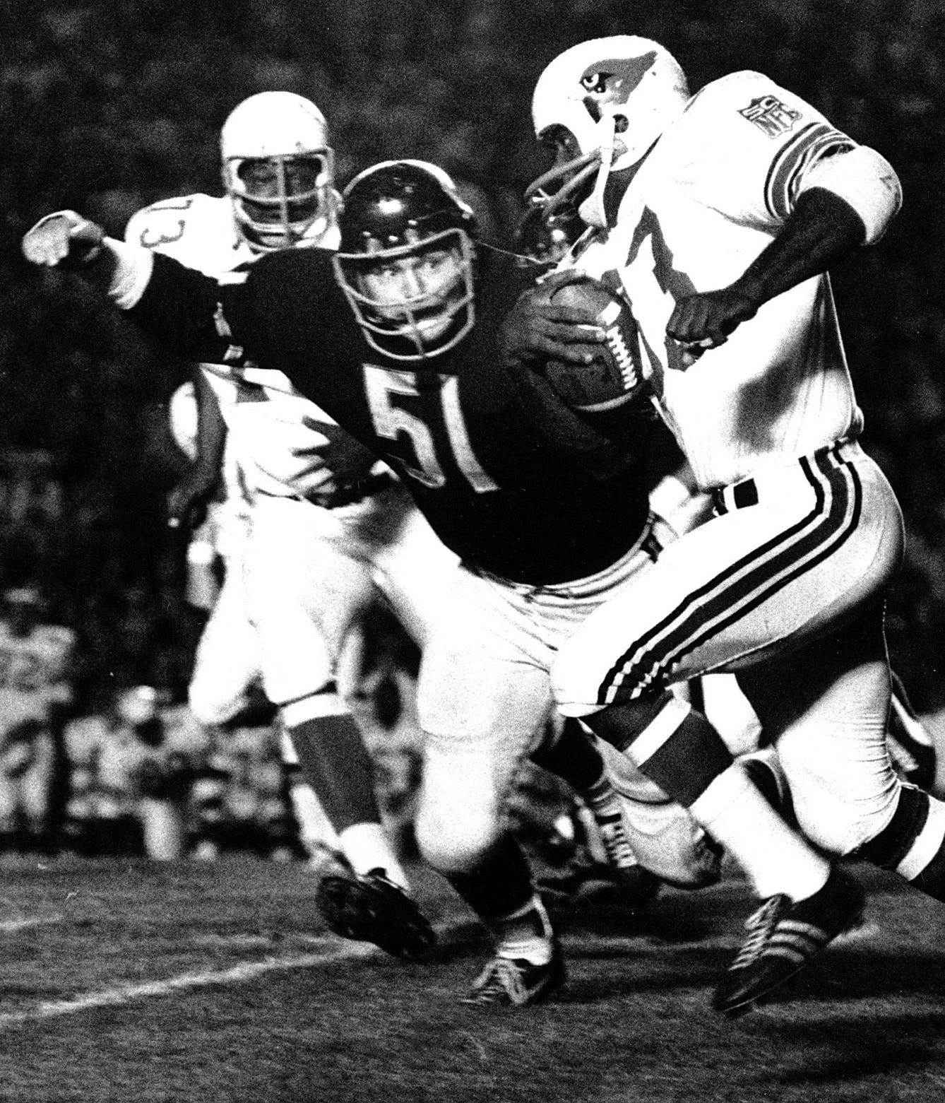 Dick Butkus - Named the most-feared tackler of all-time by NFL Films (it's true, Google it).