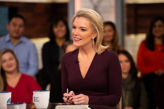"Kelly on her show ""Megyn Kelly Today"" on Oct. 22, 2018, the day before controversial remarks led to the show being canceled and negotiations for her departure from NBC News."