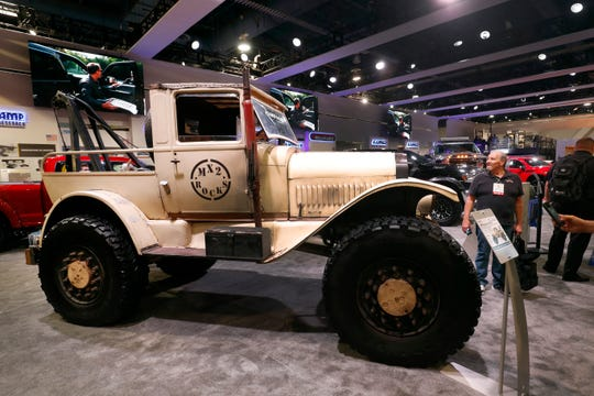 A 1917 Rampage Recovery Rig is on display at SEMA.