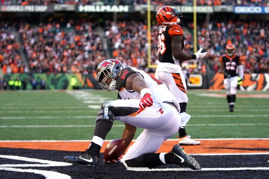 Buccaneers tight end O.J. Howard found the end zone in Week 8 for the third time this season.