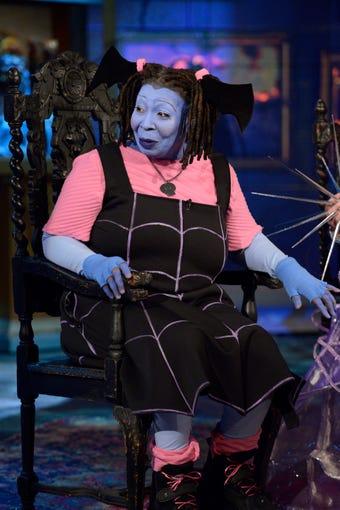 Whoopi Goldberg was feeling a little blue, dressing as Vampirina from the Disney Junior show.
