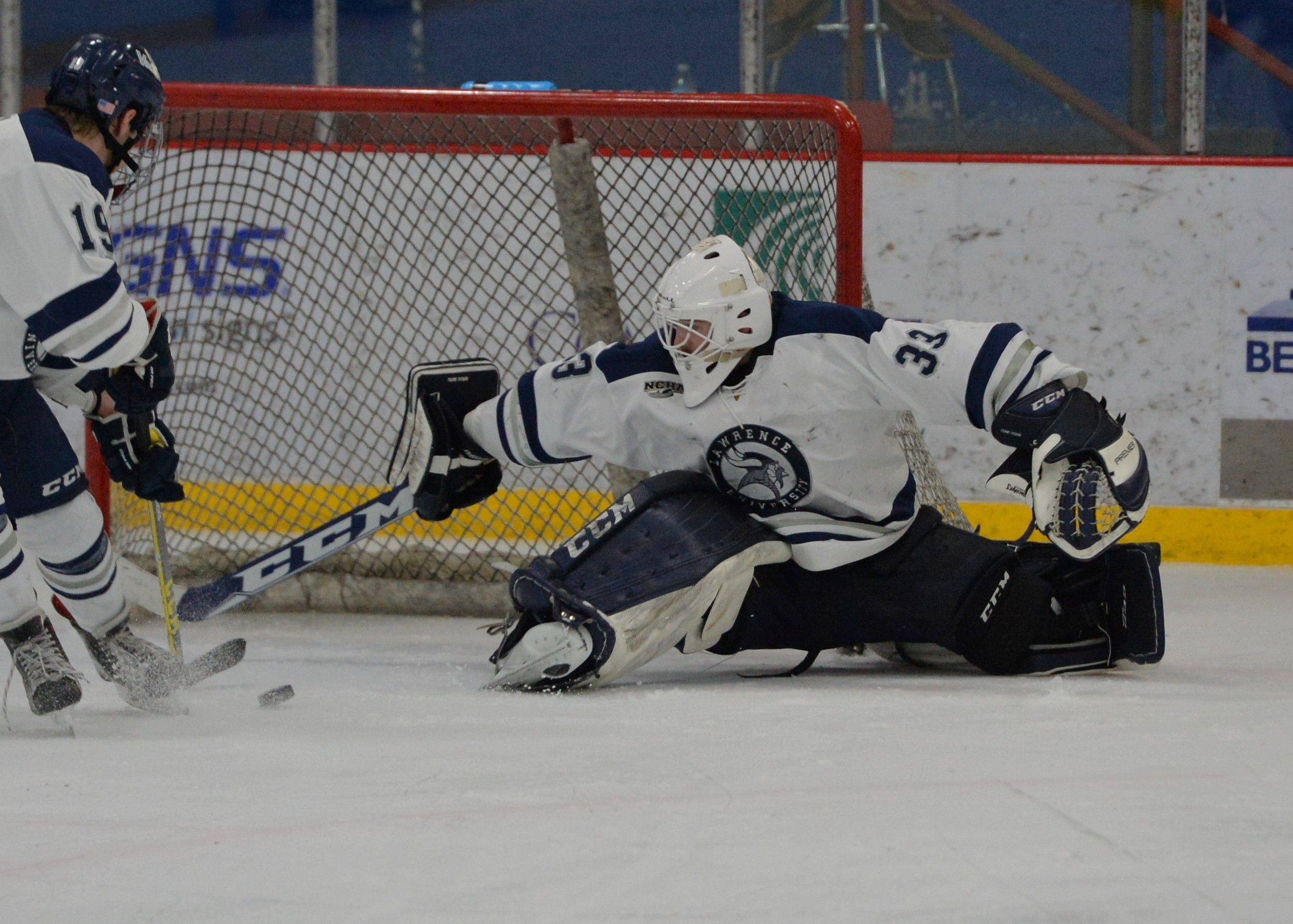 Junior goalie Evan Cline had nine wins and a shutout last season, posting a .909 save percentage and 3.16 goals against average.