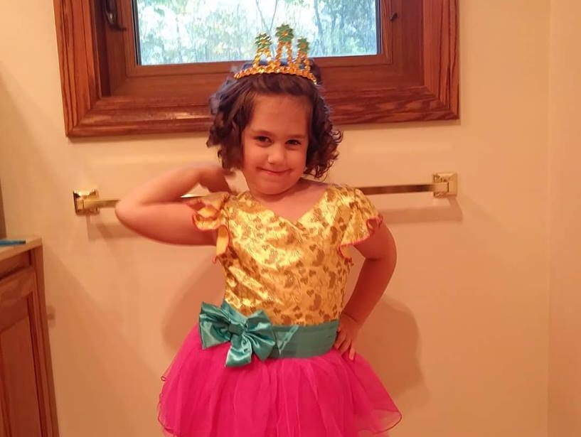 Andromeda Van Laanen, 4, of Green Bay dressed as Fancy Nancy. Her parents are Bridget and Matt Van Laanen.