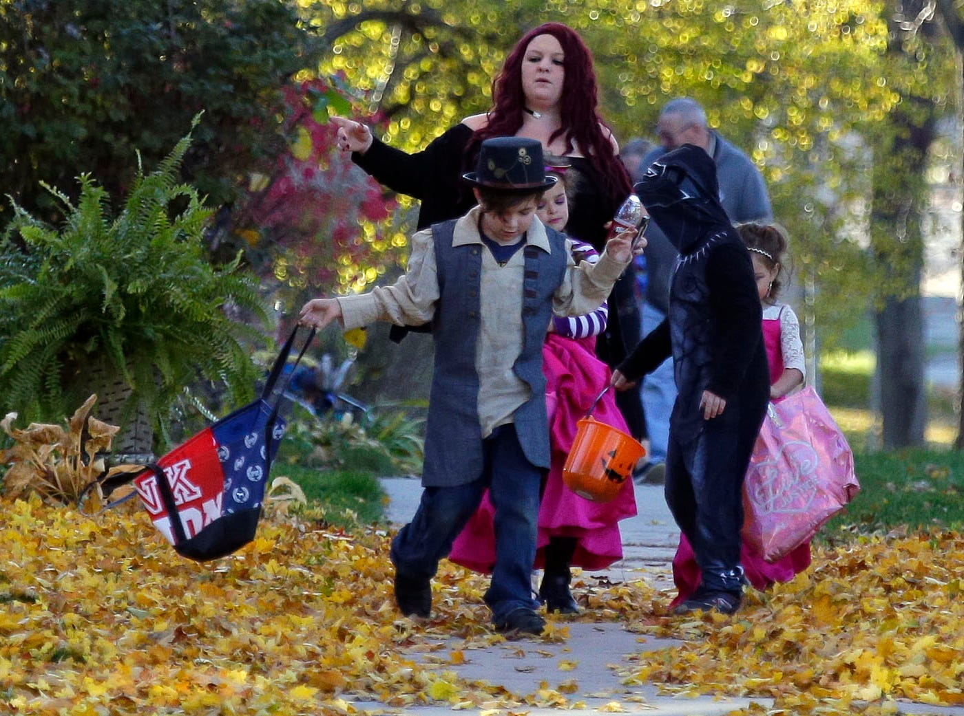 It's Halloween and trick-or-treating takes place Wednesday, October 31, 2018, in Appleton, Wis.