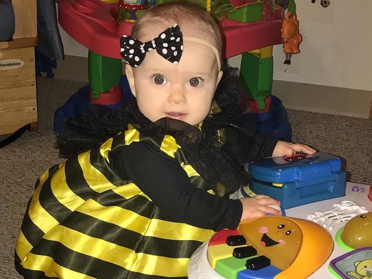 Anniston Talbot, 8 months, dressed as a bee. Her parents are Justin and Bree Talbot of Appleton.