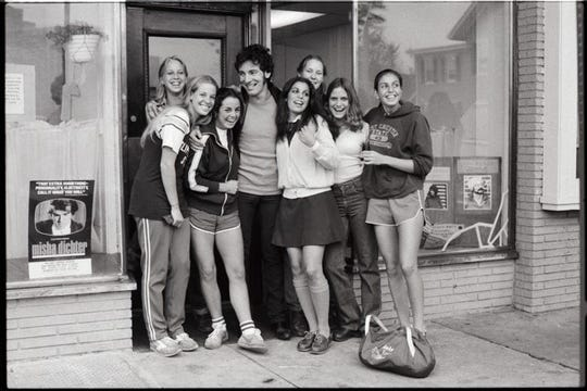 Bruce Springsteen and the girls in Red Bank by David Gahr
