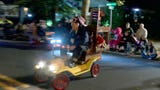 RAW VIDEO: The Shrine Mini Cars participate along Main Street in the Toms River Halloween parade.