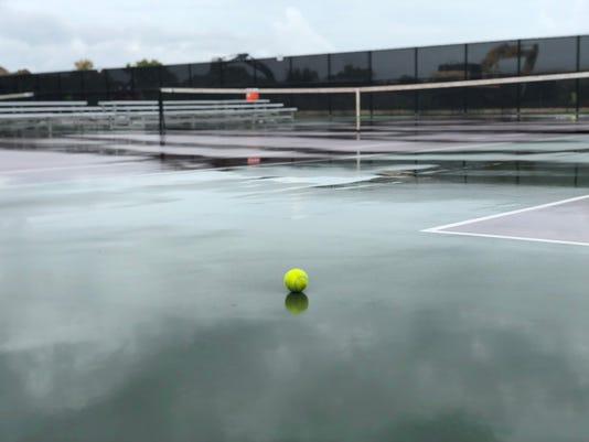 State tennis rain