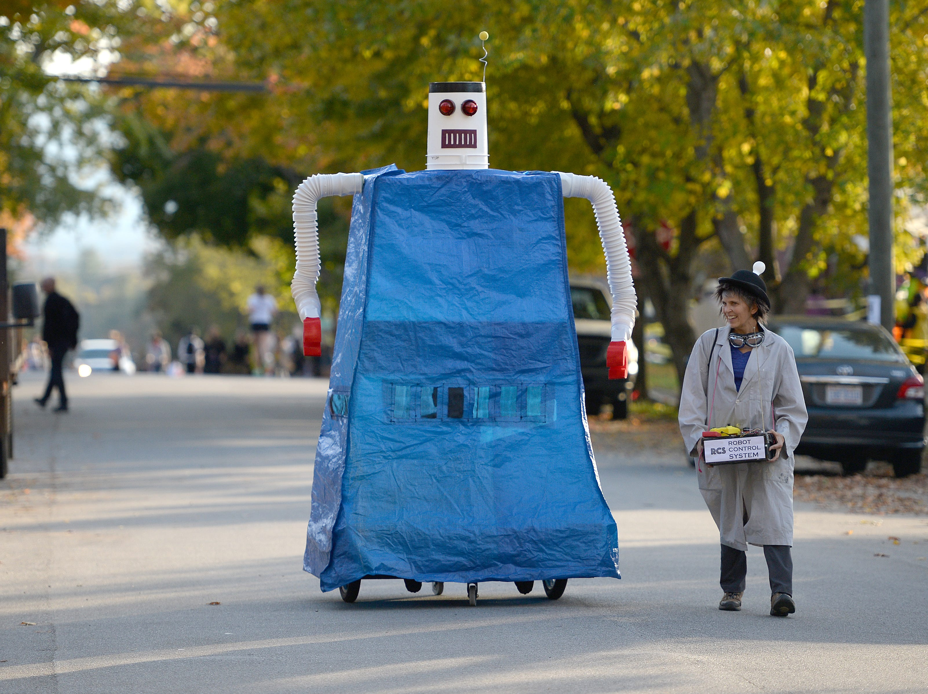 Trick-or-treaters made their way up and down Vermont Avenue in search of candy during the street's annual Halloween celebration on Oct. 31, 2018.