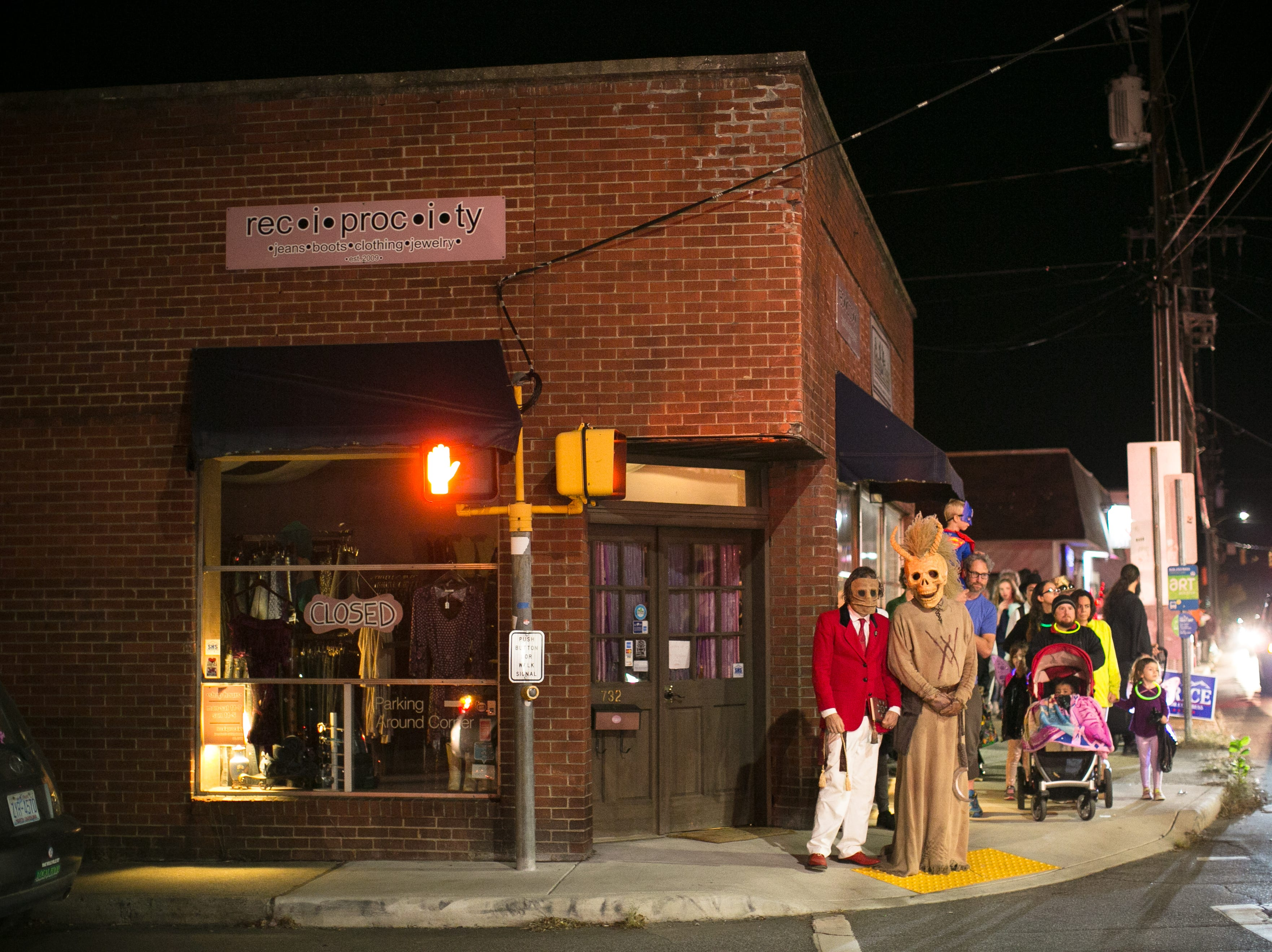 Halloween celebrations were in full swing at West Asheville's Brew Pump on Oct. 31, 2018.