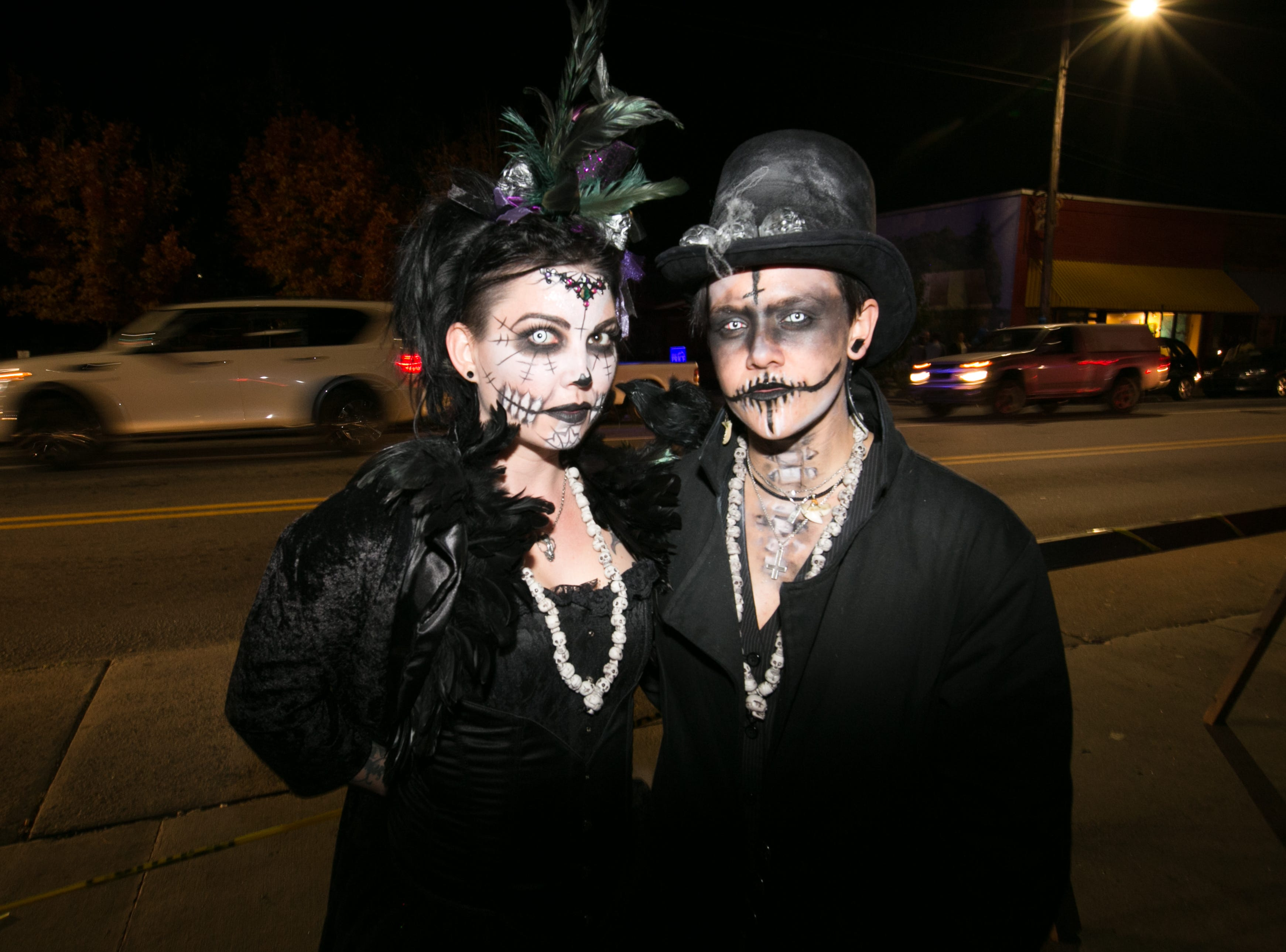 Adults and kids alike celebrate Halloween at West Asheville's Brew Pump on Oct. 31, 2018.
