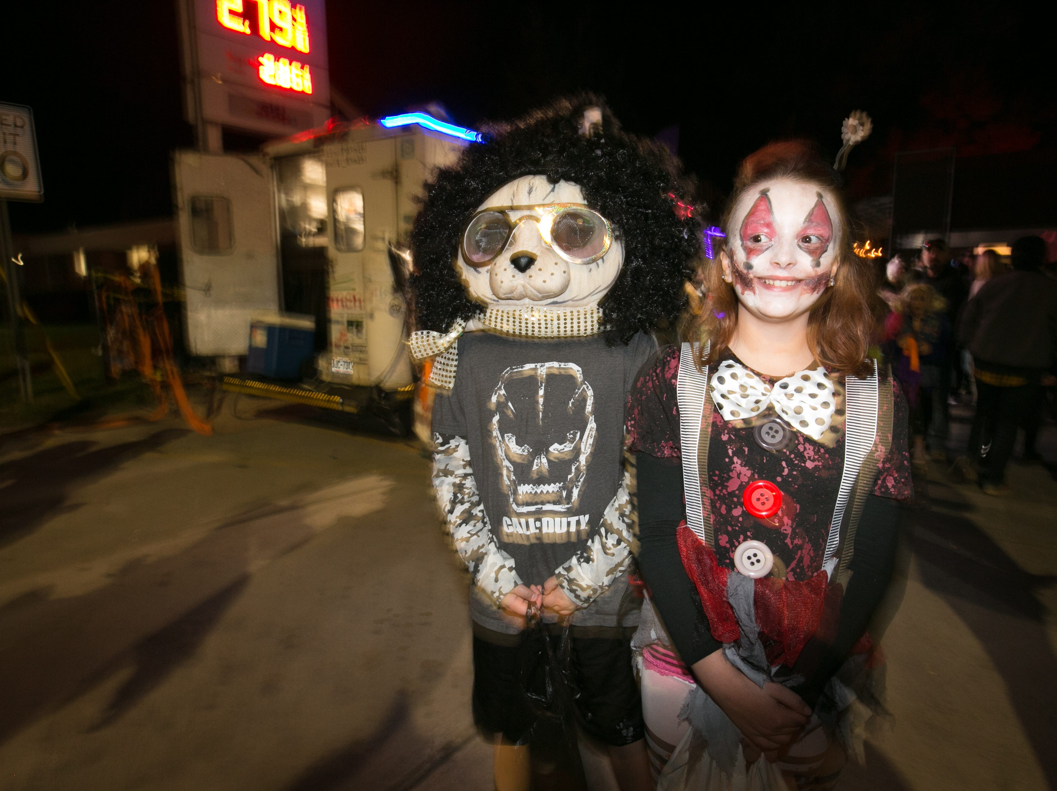 Halloween celebrations at the Brew Pump in West Asheville on Oct. 31, 2018.