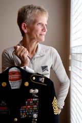 Retired Command Sgt. Maj. Gretchen Evans served in the United States Army for 27 years before she was deafened by a mortar blast in Afghanistan forcing her to retire. The bronze star recipient will be featured in a television show airing on CBS on Sunday, Nov. 4, 2018.