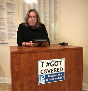"""""""I am surviving cancer"""" with help from a health insurance plan purchased through the Affordable Care Act, Etowah resident Susan Pfeiffer said at an event Thursday to announce help to get enrolled in an ACA plan."""