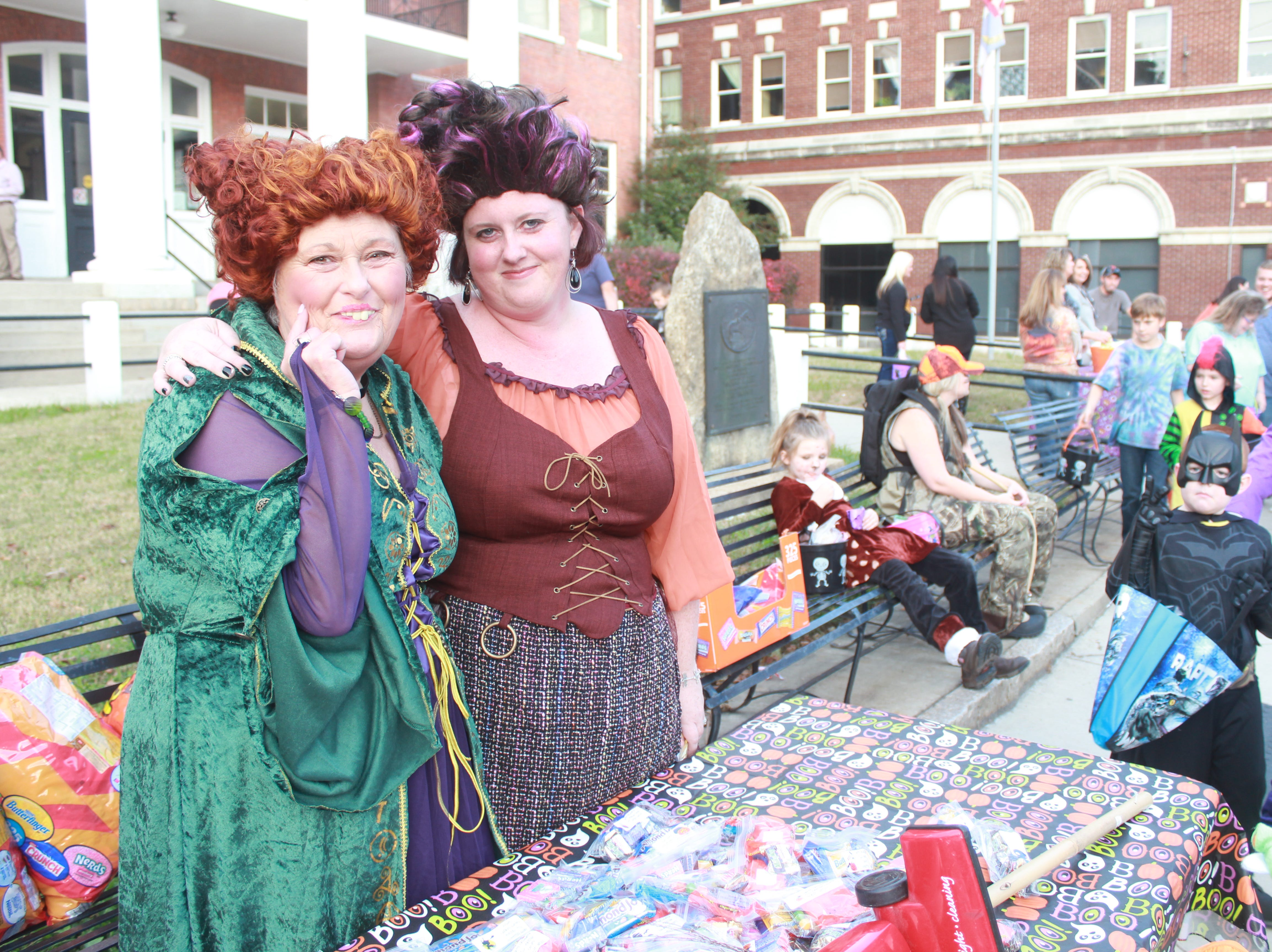 Becky Hughes and Amanda Cutshaw of the Madison County Sheriff's Office enjoyed Halloween fun as the Sanderson Sisters from Hocus Pocus.