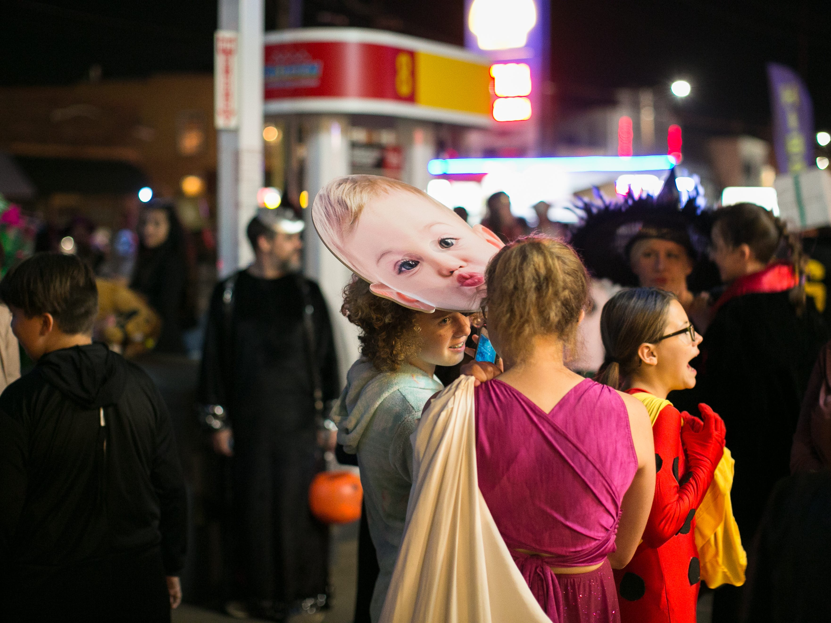 Adults and kids alike celebrated Halloween at West Asheville's Brew Pump on Oct. 31, 2018.