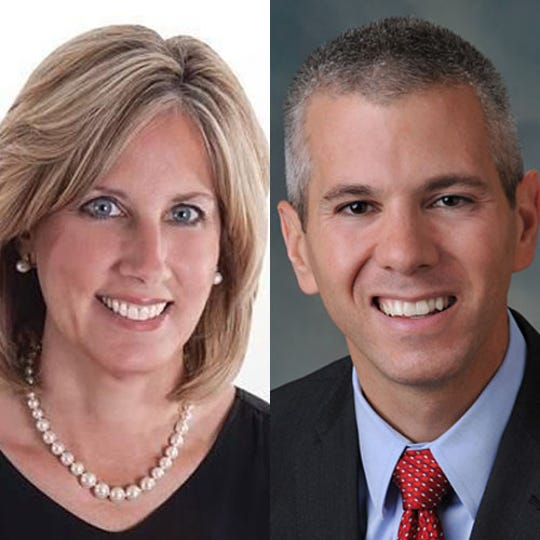 Claudia Tenney, left, and Anthony Brindisi.
