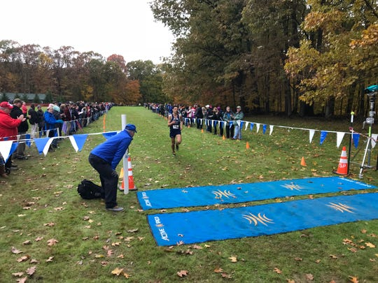 Watkins Glen's Gabe Planty polishes off a win in the Class C race Thursday at Chenango Valley State Park.
