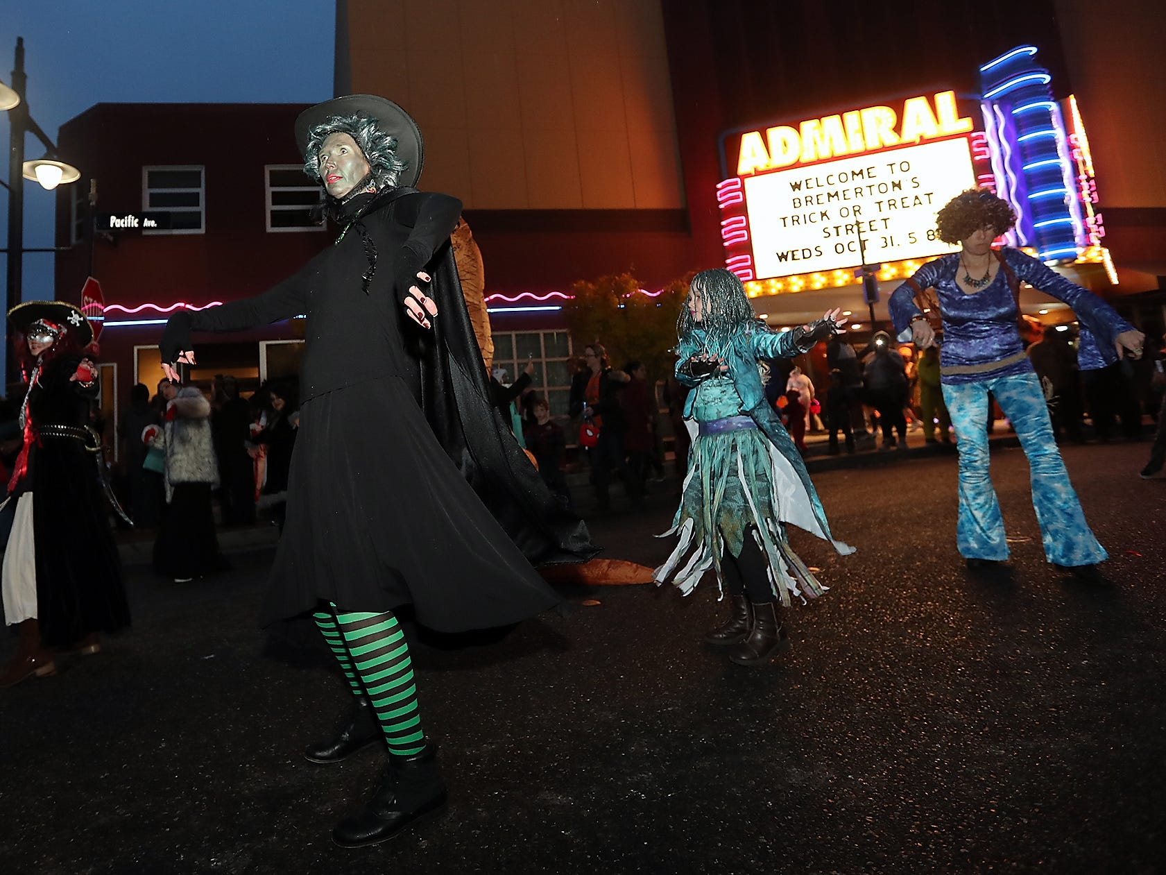 Downtown Bremerton's Trick or Treat Street on Wednesday, October 31, 2018.