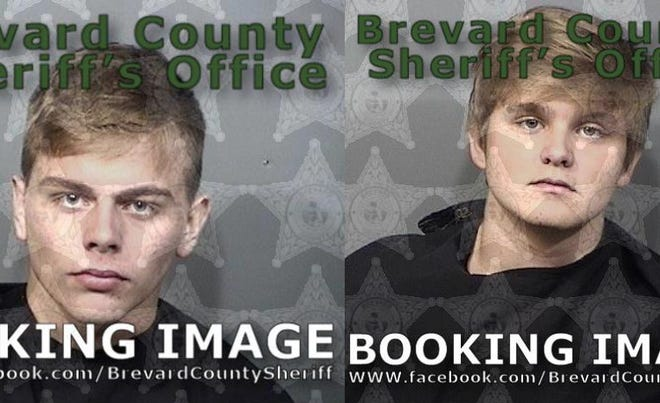 Rockledge teens Glade Hicks-Fredenburg (left) and Tyler Chapman (right) arrested after alleged Snapchat vape robbery and murder plot.