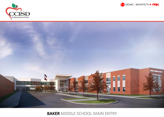 Baker Middle School's replacement campus is slated to be completed by August 2019.