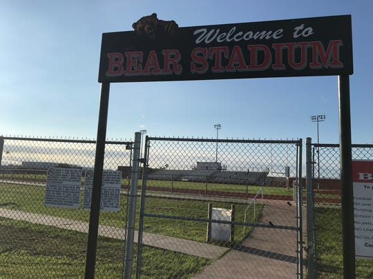 About $1.78 million of the $12 million bond being proposed by West Oso ISD would pay for a new turf football field at Bear Stadium.