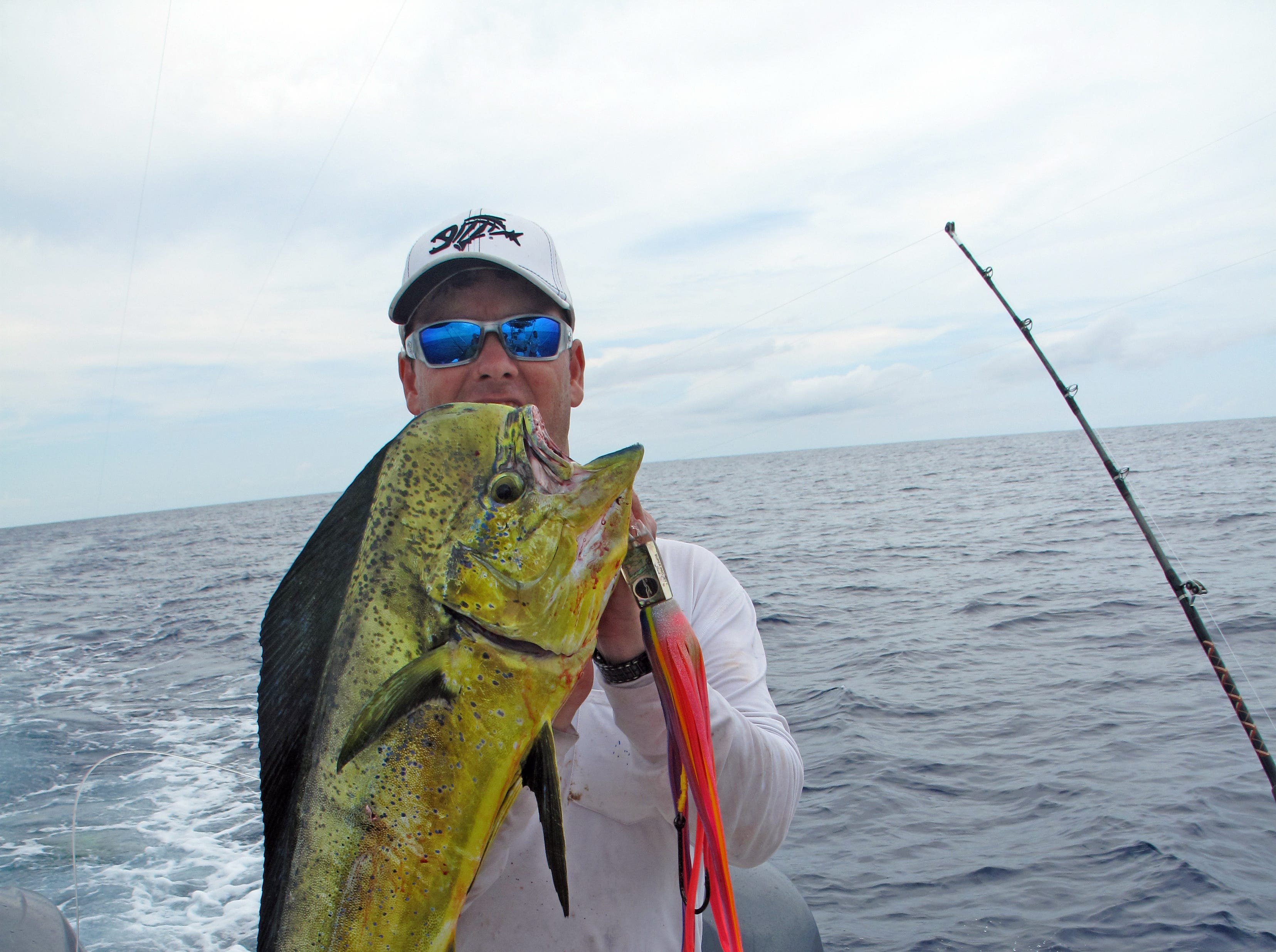 Timmy Hervey caught this dorado while fishing about 80 miles offshore.