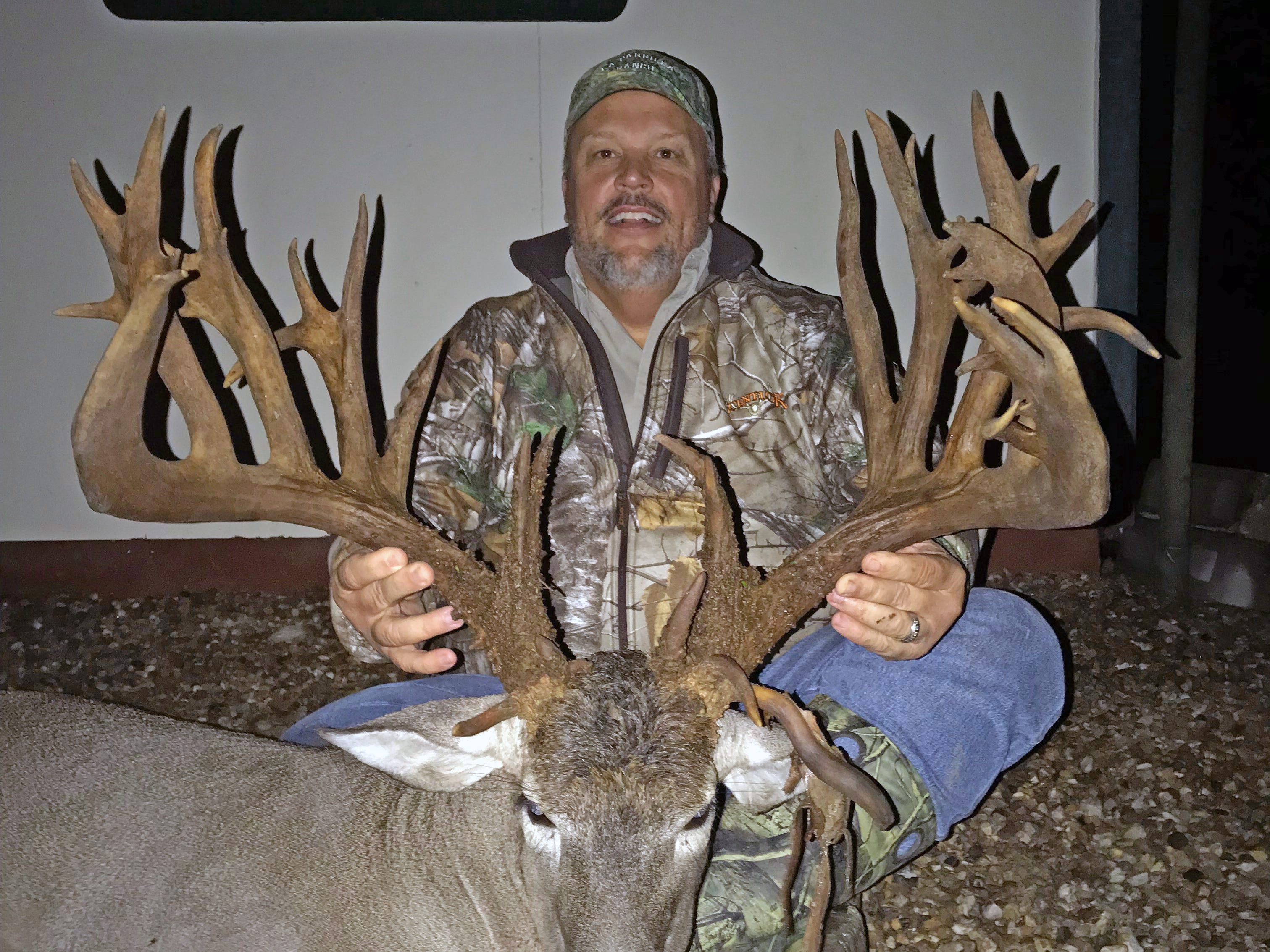 Gary Wetzel killed this monster buck while hunting on a ranch near Freer. The buck reportedly scored 327 and change.
