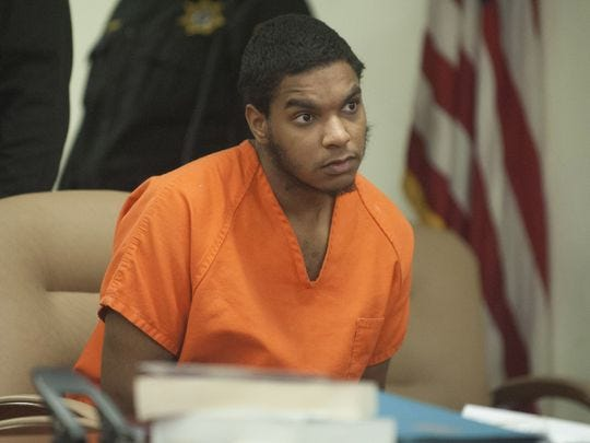 Jacob Llera, convicted of the September 2015 murder of Saadiq 'Deek' Coleman, appears at a 2015 court hearing.