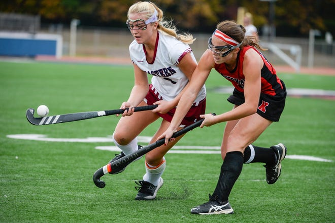 Eastern's Kara Heck (3) controls the ball against Kingsway Thursday, Nov. 1, 2018 in Voorhees, N.J. Eastern won 8-0 for the South Jersey Group 4 championship.