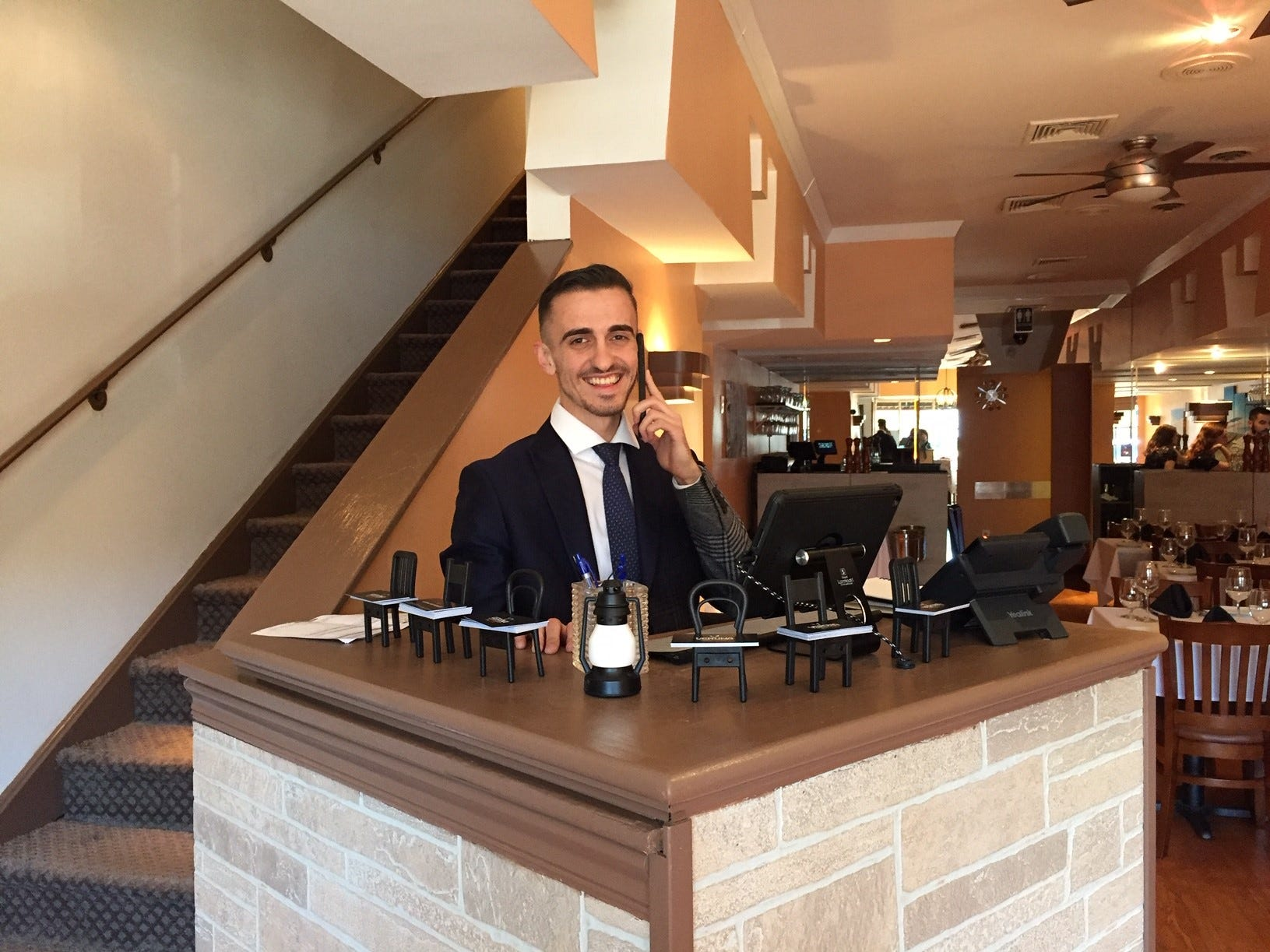 Endrit Bodi , owner of the new Verona Ristorante Italiano, is ready to welcome his first guests.