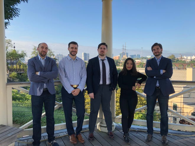 Jonathan Katz (from left) Steve D'Agostino, Josh Evans, Doanh Nghiem and Alex Garashchenko are the team behind Jove, an app that  lets home buyers request on-demand showings.