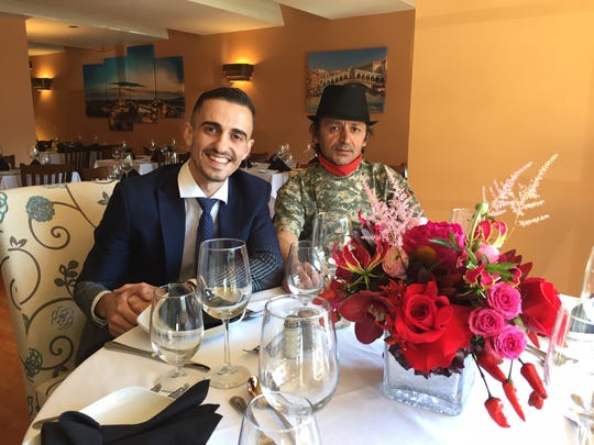 Verona Ristorante Italiano owner Endrit Bodi and Chef Artur Haxhiu sit at the chef's table at Verona in Haddonfield. The restaurant opens its doors Thursday.